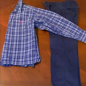 Ralph Lauren long sleeve shirt  pants included sz6